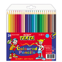 Texta Regular Coloured Pencils Pack of 24