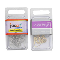 Decorative Paper Clips Heart Shaped Pack of 10