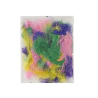 Jasart Small Feathers Assorted Colours Pack of 50