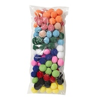 Jasart Pom Poms 25mm Assorted Colours Pack of 100