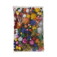 Jasart Assorted Glitter Pom Poms Pack of 200