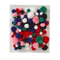 Jasart Assorted Pom Poms Pack of 150