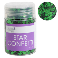 Star Confetti Green 60g