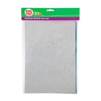 Educraft A4 Foam Sheets Glitter 5 Pack