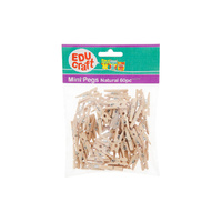 Educraft Wooden Mini Pegs Pack of 60