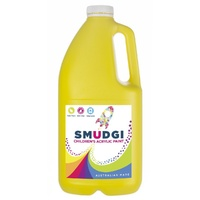 Smudgi Children's Acrylic Paint Yellow 2L