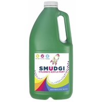 Smudgi Children's Acrylic Paint Green 2L