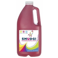 Smudgi Children's Acrylic Paint Red 2L