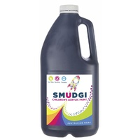 Smudgi Children's Acrylic Paint Black 2L