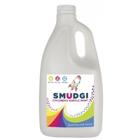 Smudgi Children's Acrylic Paint White 2L