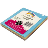 Rainbow Matt Squares 2 Sided 127mm 80GSM 120 Sheets