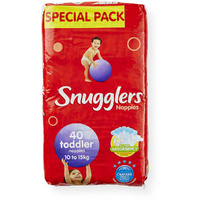 Snugglers Nappies Toddler 10 - 15KG 4 x 40's (160)