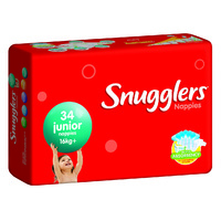Snugglers Nappies Junior 16+KG 4 x 34's (136)