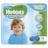 Huggies Nappy-Pants Junior Boy (16+KG) 4 x 18's
