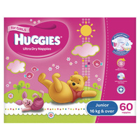 Huggies Junior Girl 16+KG 60's