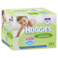 Huggies Wipes Cucumber & Aloe 384's