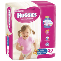 Huggies Junior Girl 16+KG 30's