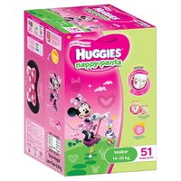 Huggies Nappy Pants Walker Girl 14-18kg 51's