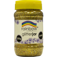 Rainbow Glitter Jar 250g Gold