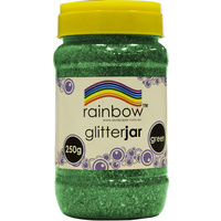 Rainbow Glitter Jar 250g Green