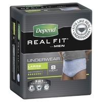 Depend Real Fit Underwear for Men Large 8's