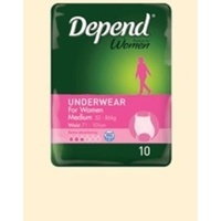 Depend Underwear Medium 52 - 86KG 10's