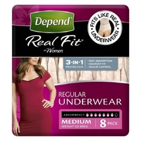Depend Real Fit Underwear for Women Medium 8's