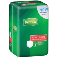 Depend Fitted Briefs Large 8's