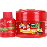 Sofn'Free n'Pretty Avo & Honey Relaxer Super 250mL + Neutralising Conditioning Shampoo for Girls 60mL
