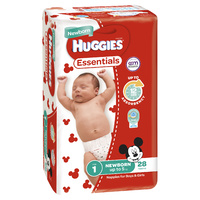 Huggies Essentials Newborn Up to 5kg 28's