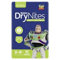 Huggies DryNites Boys 11's Size: 2 - 4 YRS