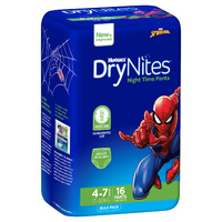Huggies DryNites Boys 16's  Size: 4 - 7 YRS