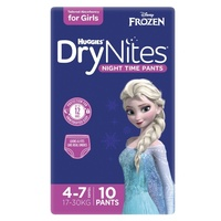 Huggies DryNites Girls 10's Size: 4 - 7 YRS