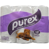 Purex Toilet Tissue 2 Ply 210 Sheets 12 Pack