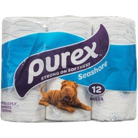 Purex Toilet Tissue Seashore 2 Ply 210 Sheets 12 Pack