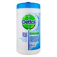 Dettol Antibacterial Surface Wipes 80's