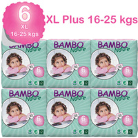 Bambo Nature Nappies XL 16-30kg Size 6 6 x 22's Size 6