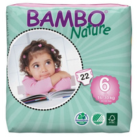 Bambo Nature Nappies XL 16-30kg Size 6 22's Size 6