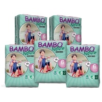 Bambo Nature Pants 18+KG 5 x 18's (90) Size 6