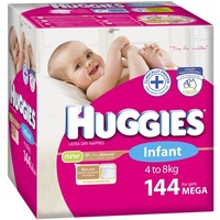 Huggies Infant Girls 4 - 8KG 144's