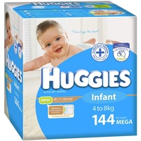 Huggies Infant Boy 4 - 8KG 144's