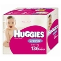 Huggies Crawler Girls 6 - 11KG 136's