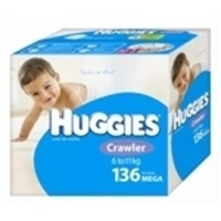 Huggies Crawler Boys 6 - 11KG 136's