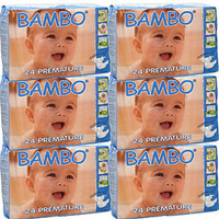 Bambo Nature Premature Nappies 1 - 3 KG Carton 6 x 24's (144) Size 0