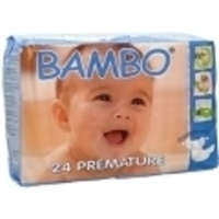 Bambo Nature Premature Nappies  1 - 3KG 24's Size 0