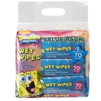 Spongebob Wet Wipes 3 x 70's