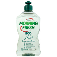 Morning Fresh Dishwashing Liquid ECO Fragrance Free 400ml