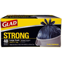 Glad Large Trash Bags 113L 40's