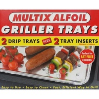 Multix Alfoil Griller Trays 2 Pack