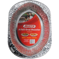 Multix Alfoil Oval Roaster Medium Size Pack of 12